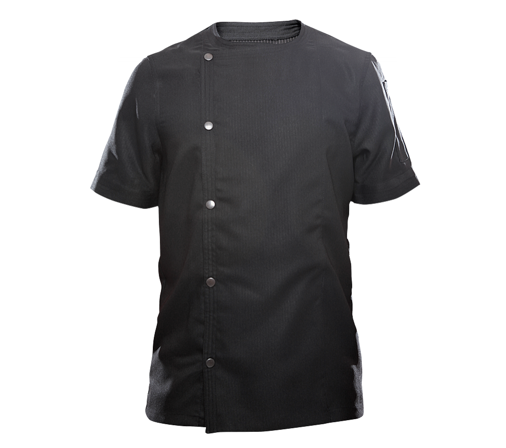 life origine mc noir veste de cuisine homme homme life is a game. Black Bedroom Furniture Sets. Home Design Ideas